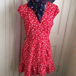 JCrew Mercantile Dress - 6 red white print ,